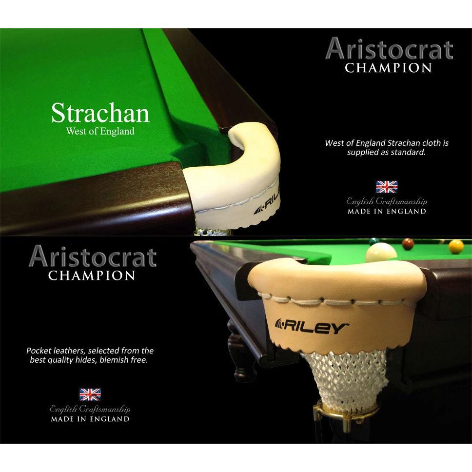 Riley-Aristocrat-Snooker-Table-12FT-Cktb-Pockets
