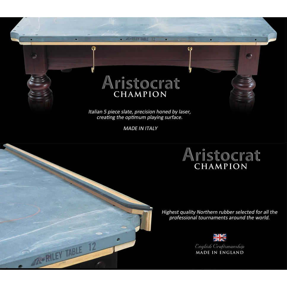 Riley-Aristocrat-Snooker-Table-12FT-Slat-Rubber
