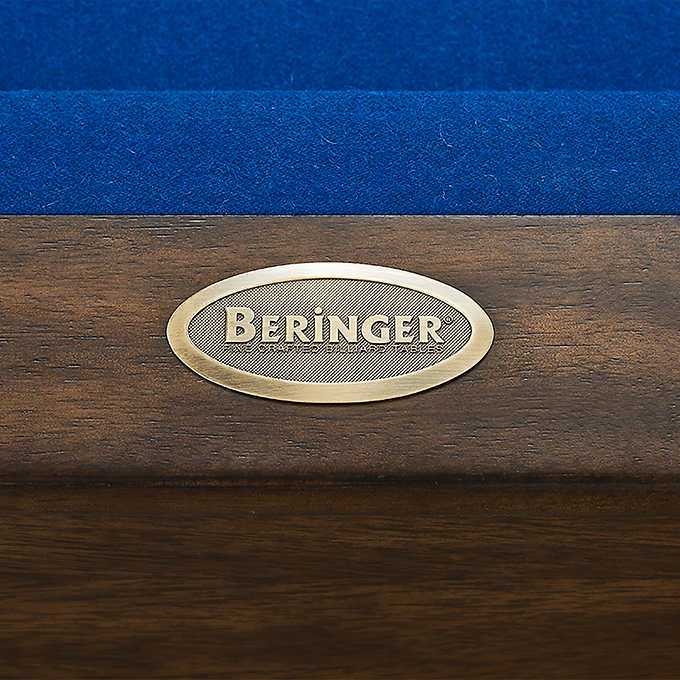 Beringer Rivo 7ft All in one Slate Pool Table – Front Rail Solid Wood – Brass Name Plate – Hand rubbed stain finish