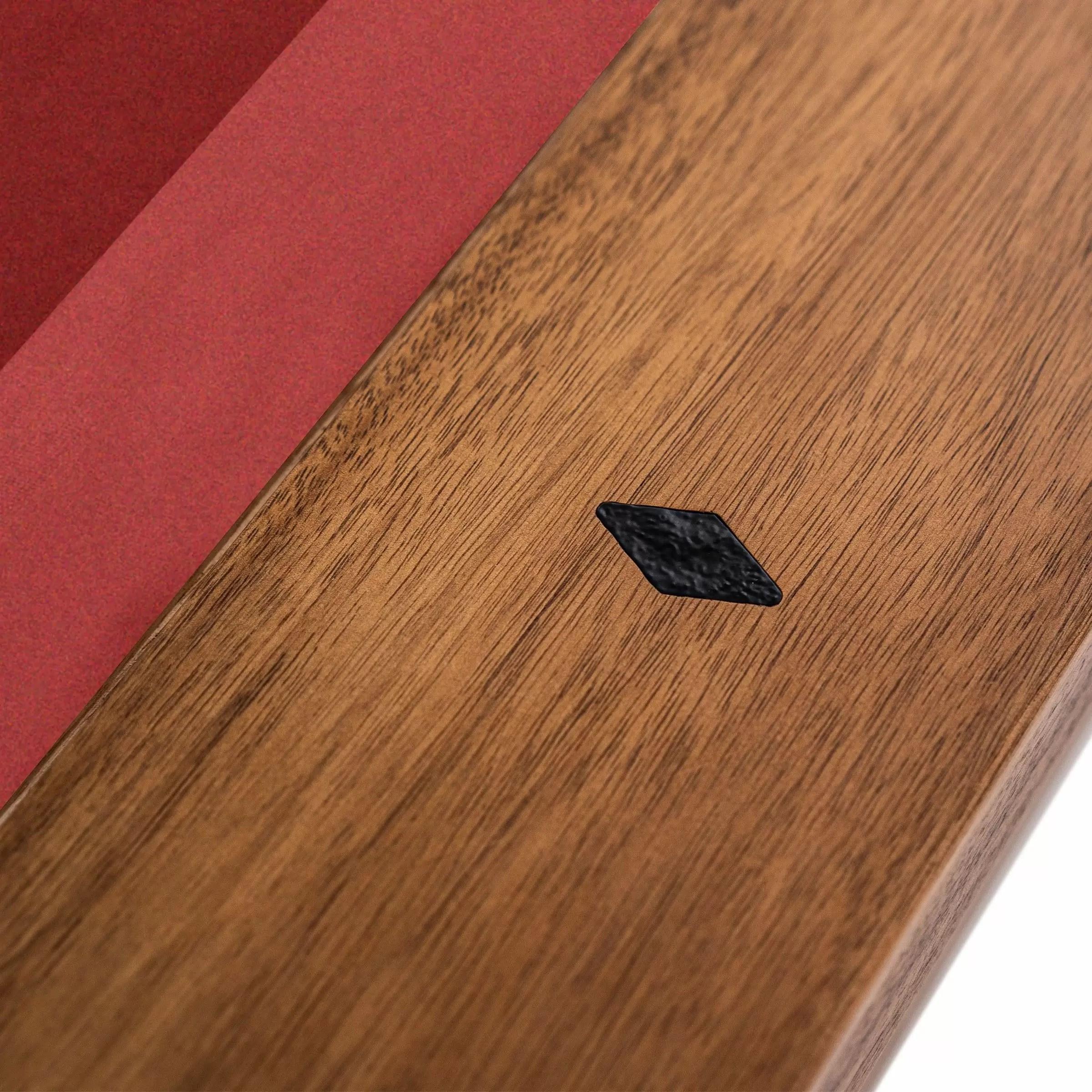 Imperial – Laredo Pool Table – Acacia – Side Rail with Diamond Inlays