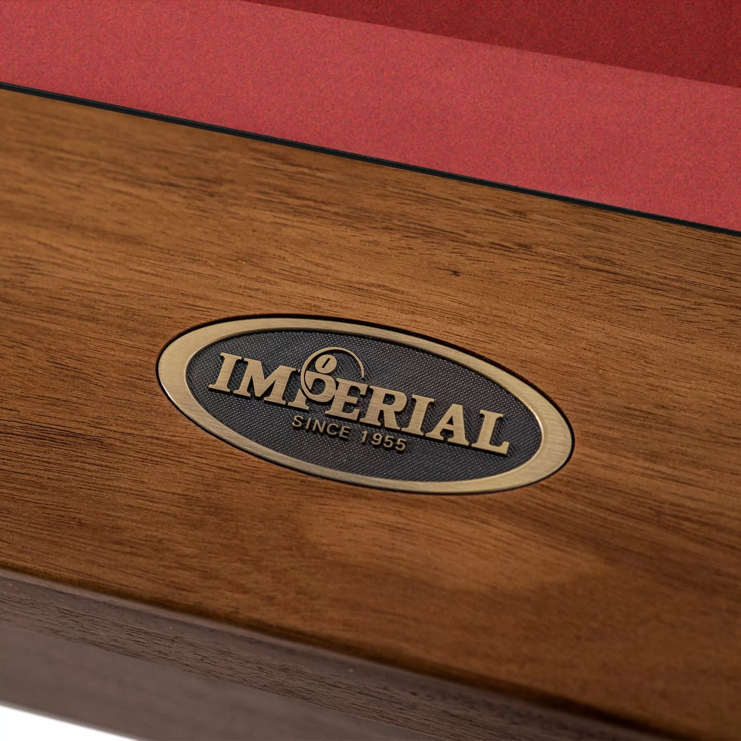 Imperial – Laredo Pool Table – Acacia – Front Rail with Imperial logo